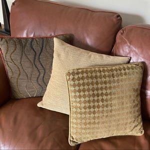 3 Beautiful Accent Pillows